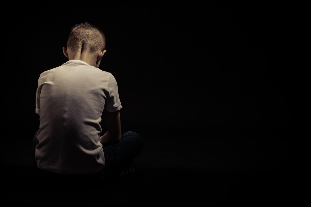 Grieving boy